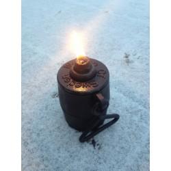 Olejová liatinová lampa